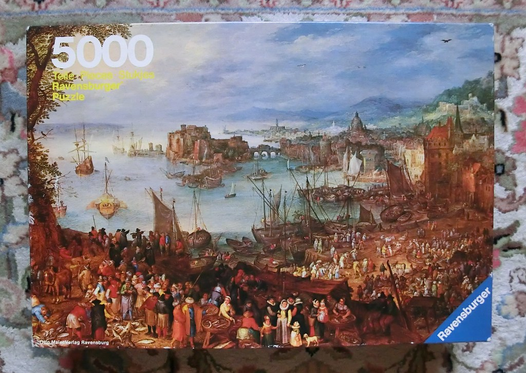 5000 piece puzzle 39 the fishmarket 39 by jan brueghel 1982 for Custom 5000 piece puzzle