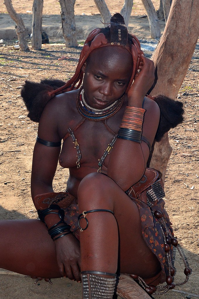 Himba Girl - Himba Village In Kaokoland, Namibia  Both -3103