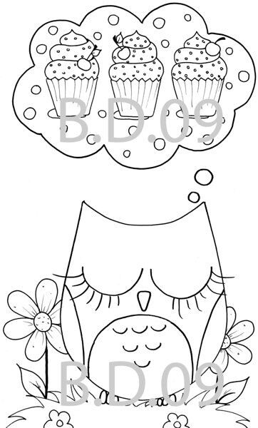 Coruja retirei da net edna zonta flickr for Cute coloring pages of owls