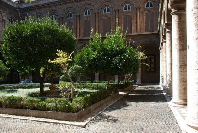 Courtyard at the Galleria Doria Pamphilj