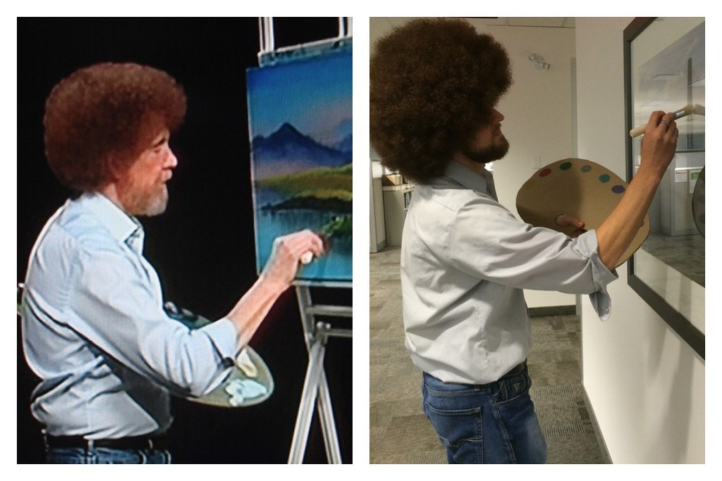Bob Ross White And Gray Painting
