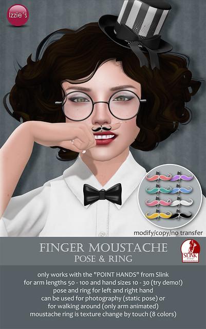Finger Moustache Pose & Ring (for MSO)