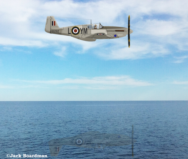 One of several airplanes that scouted open water ©Jack Boardman