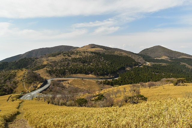 風早峠からの伊豆山稜線歩道の展望