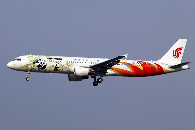 B-6365 | Air China | Airbus A321-213 | Beautiful Sichuan Livery (No.2) | PEK
