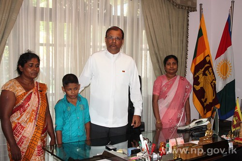 Governor assists visually handicapped child for his education – 24 October 2014