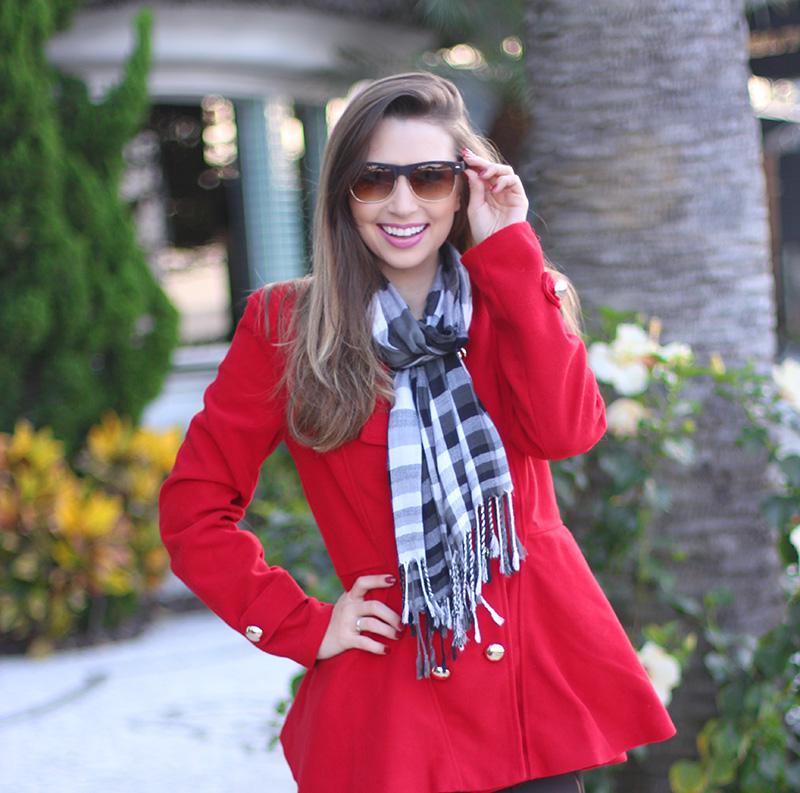 3-look do dia para o frio com casaco vermelho