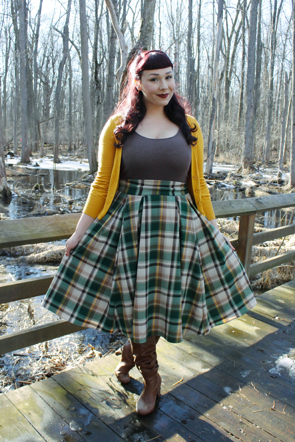 pinup girl clothing long jun plaid