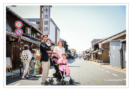 岐阜県美濃市 七五三まいり お宮まいり うだつの街並み 旧市街 家族写真 ロケーション撮影 おすすめ 人気 データ納品