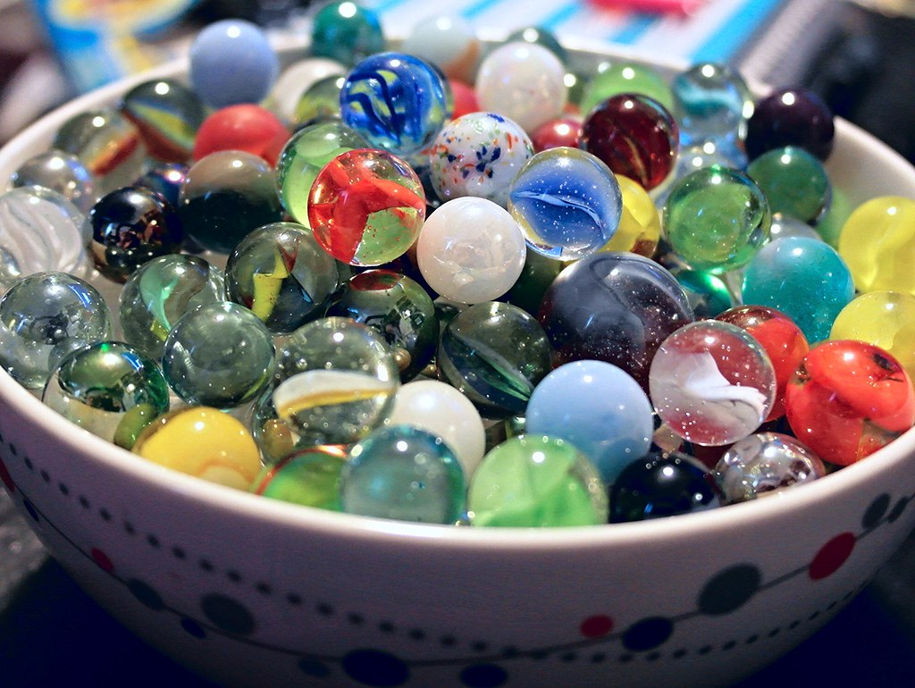 Bowl Full Of Marbles Glass Marbles Help To Create A