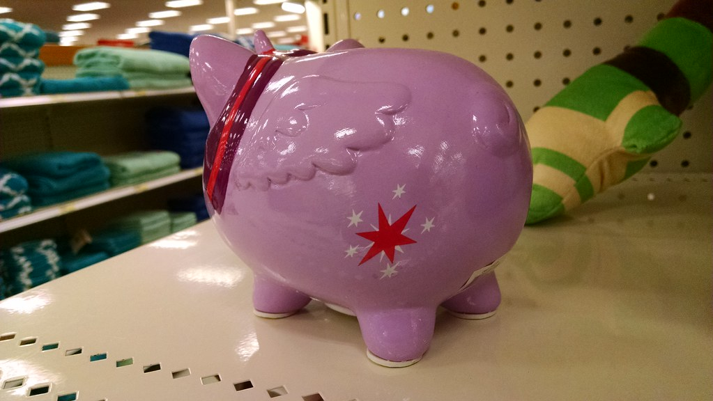 My little pony piggy bank i found this mashup of twilight flickr - Farting piggy bank ...