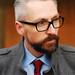 Smart grey coat, shirt and tie (over 40 menswear)