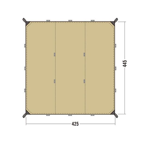 タトンカーTATONKA Tarp 1TC445×425コクーンタープ