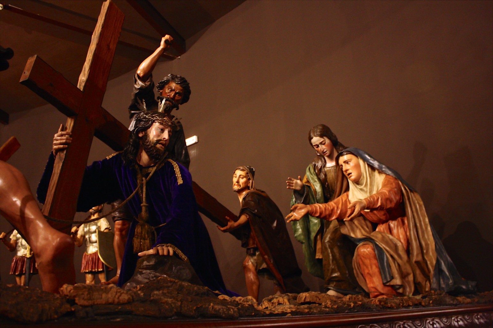 Religious float at the Holy Week Museum, Zamora