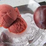 Damson and Gin Sorbet