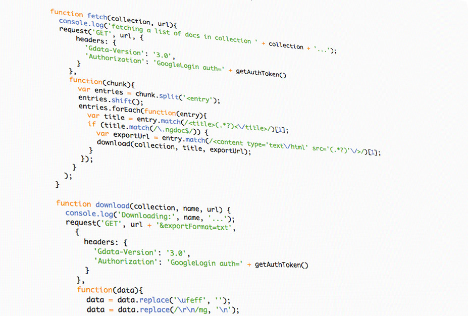 AngularJS Code II | Picture of code from the open source ...