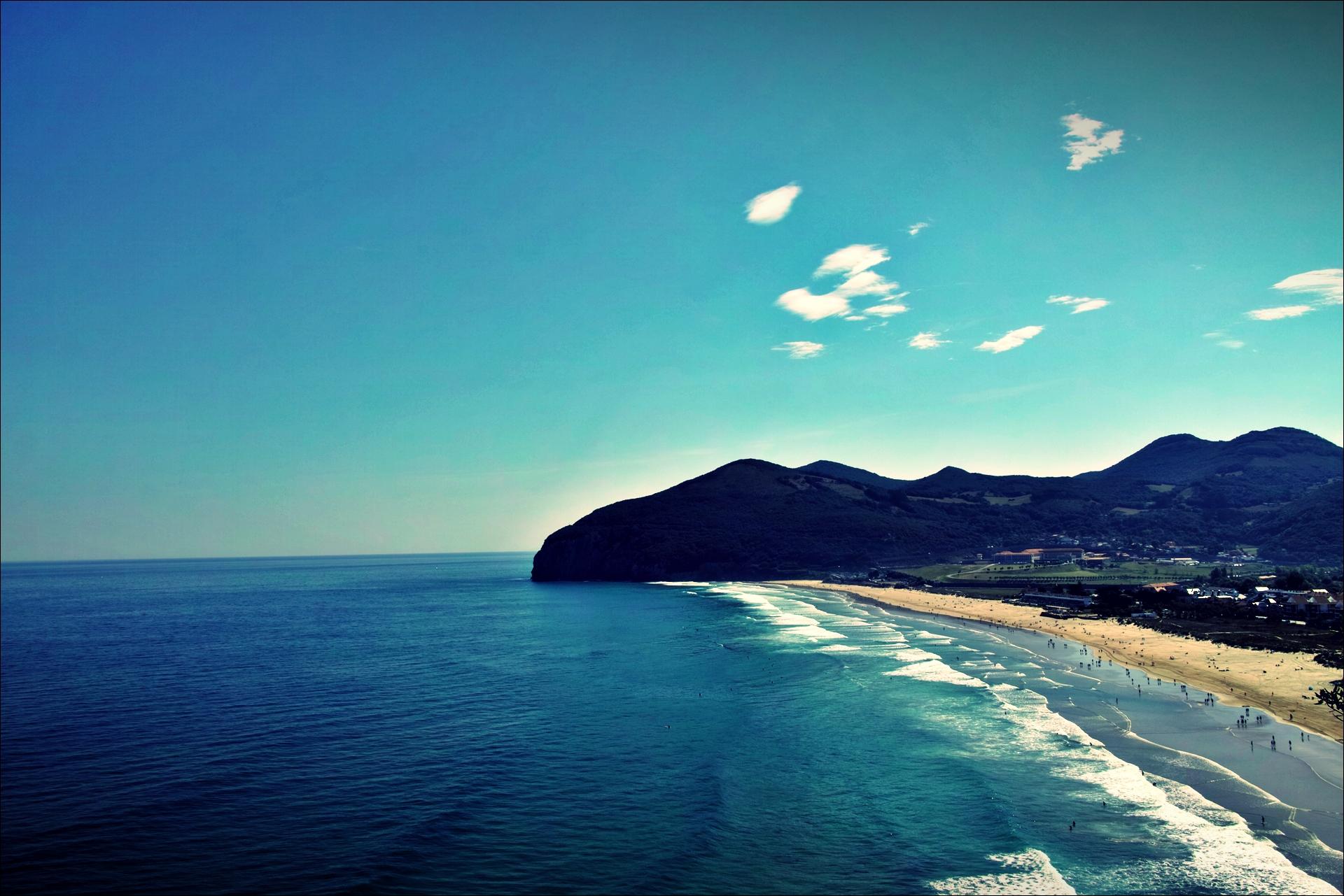 바다-'카미노 데 산티아고 북쪽길. 산토냐에서 노하. (Camino del Norte - Santoña to Noja)'
