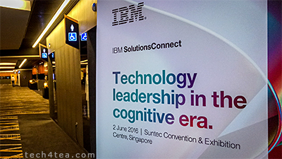 I am at a one-day thought leadership conference held by technology leader IBM at Suntec Convention and Exhibition Centre in Singapore. The conference will discuss leading-edge technologies that organisations can exploit to win. I'm looking forward to the solutions showcase that will demo the latest in cloud, Internet of Things (IoT) and analytics, amongst other technologies of the day.