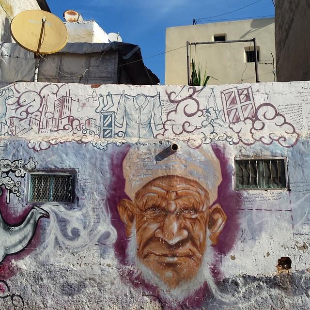 Man streetart heyho2014 casablanca part of large stre - Bunker casa blanca ...