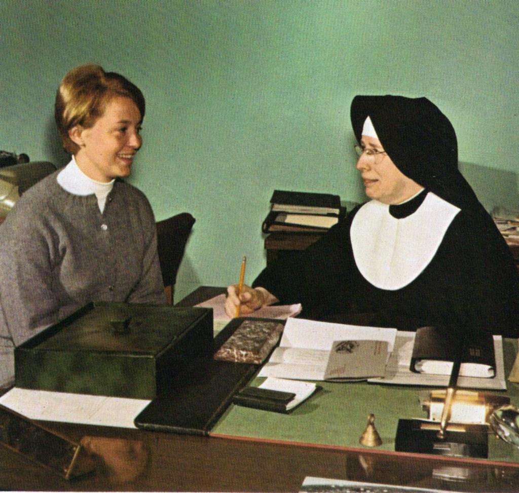 Sister Of Notre Dame De Namur Sister With Student 1968