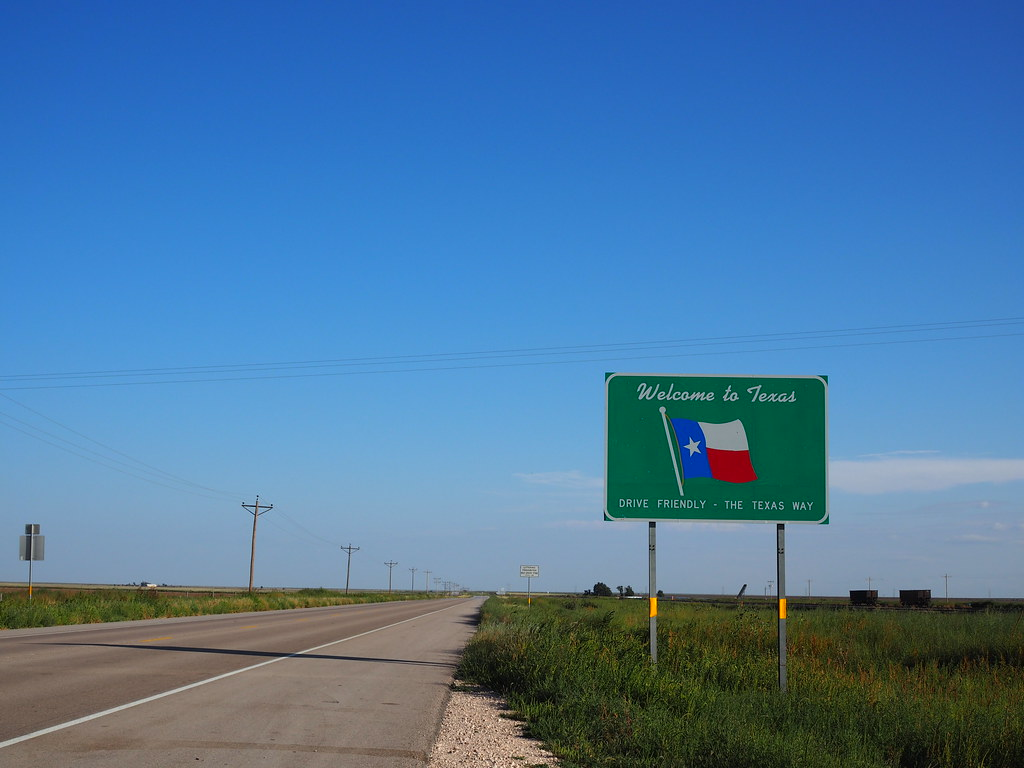 Texas Oklahoma Border Robot Brainz Flickr
