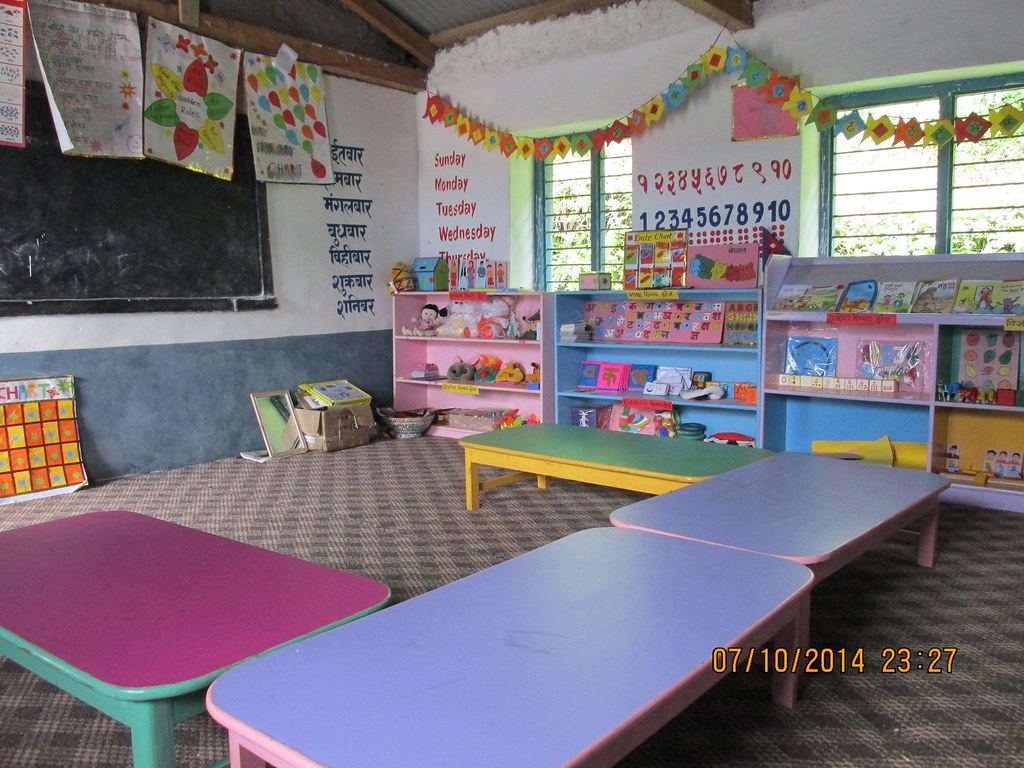 Chart Holder For Classroom: well set up ECD classroom in Sikless | Global Action Nepal | Flickr,Chart