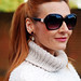 Roll neck sweater and Wolf and Moon earrings - over 40 fashion