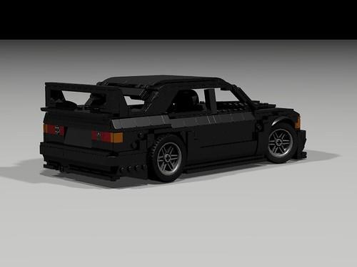 Lego 1990 Mercedes 190E Evo II - rear-side