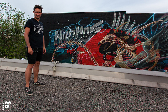 Nychos At Mural Festival, Montreal, Canada