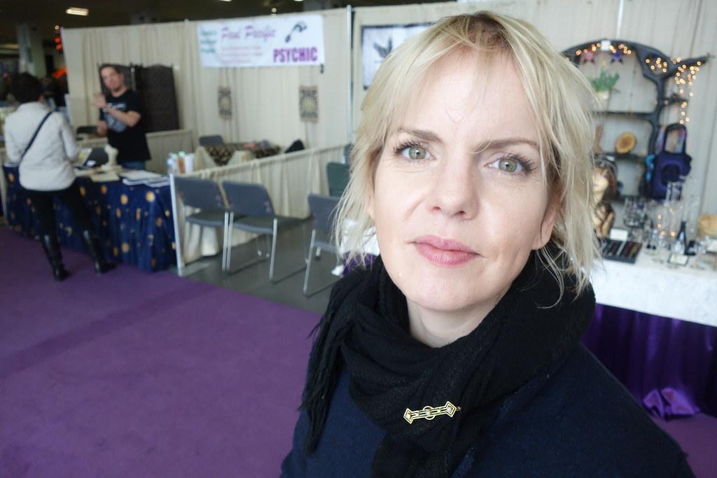 Karen MacRae at the 2017 Psychics Fair in Toronto