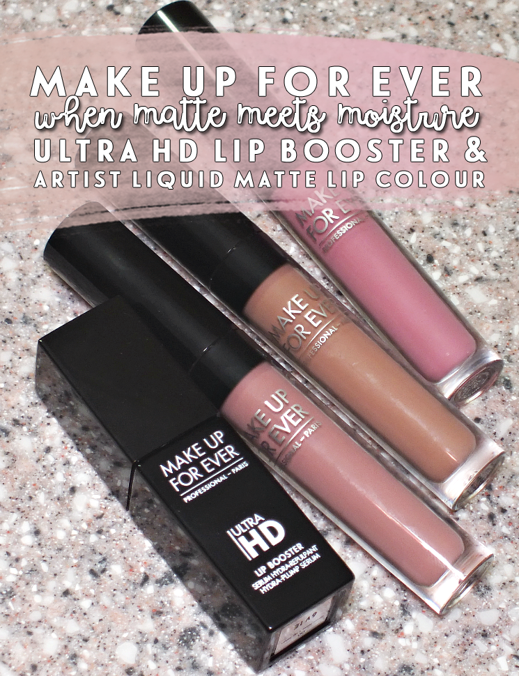 matte meets moisture make up for ever artist liquidmatte and ultra hd lip booster