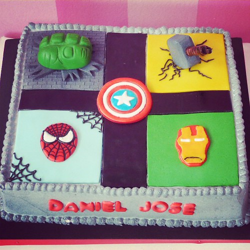 torta vengadores avengers hulk spiderman ironman