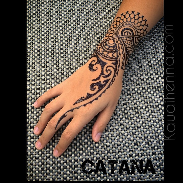 Maori Hand Tattoo: Polynesian Inspired. #Jagua #bodyart #kauai #hawaii #garde