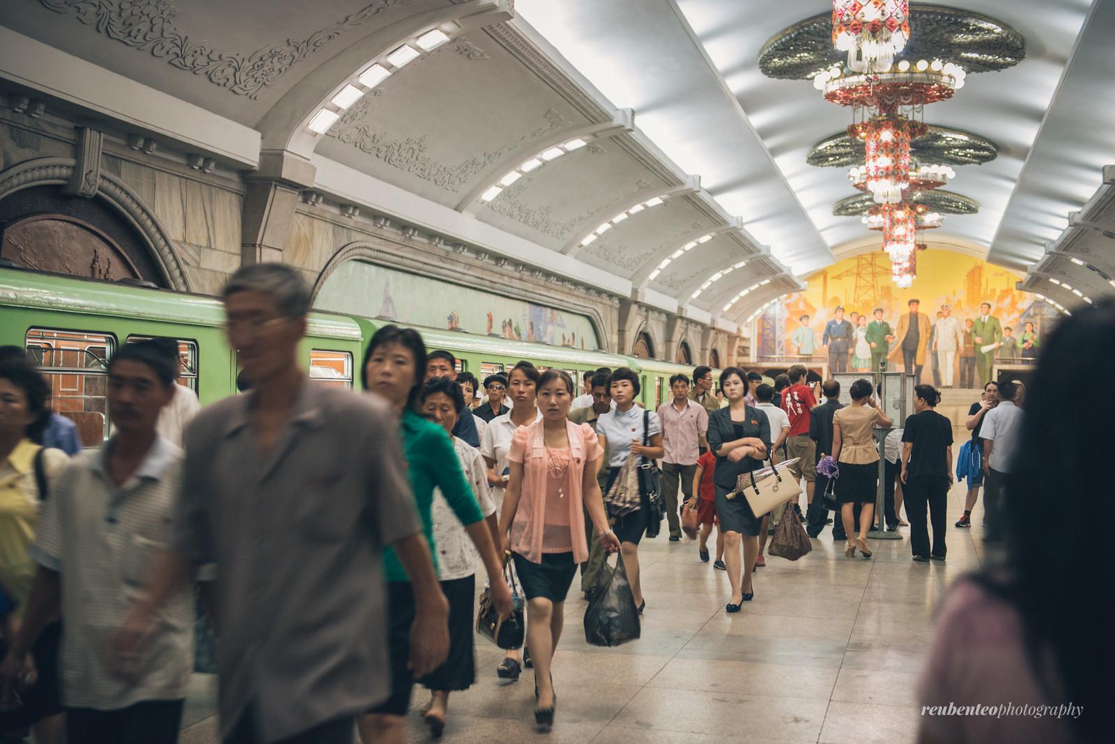 Pyongyang Metro Station