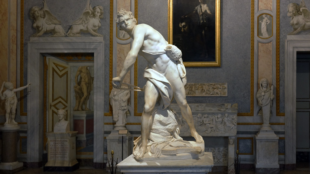david by gianlorenzo bernini The sculptor gian lorenzo bernini was just starting to make his mark in the     sculptur/1620/davidjpg.