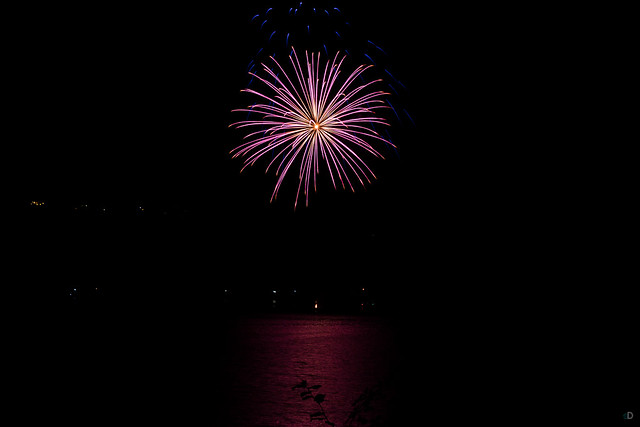 Feuerwerk am Edersee