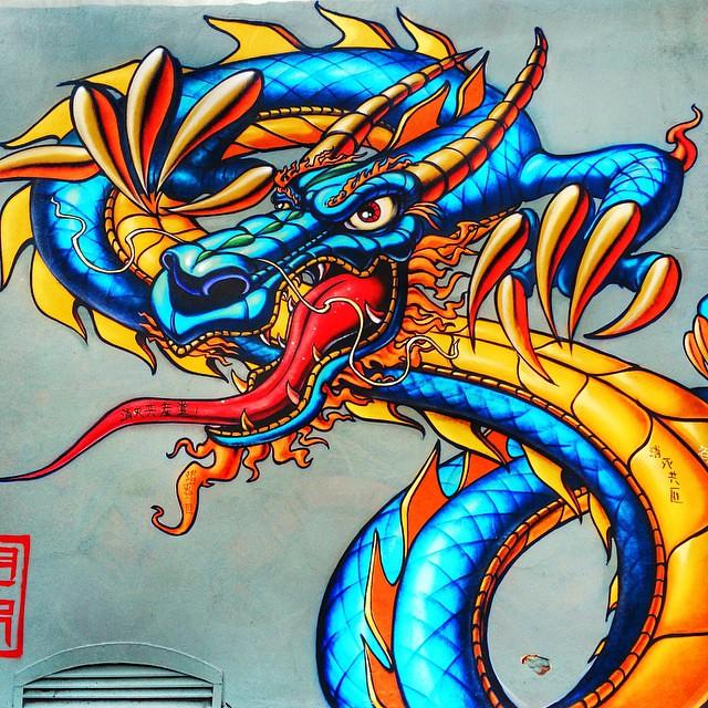 Chinatown #sf #sanfrancisco #graffiti #dragon #chinatown