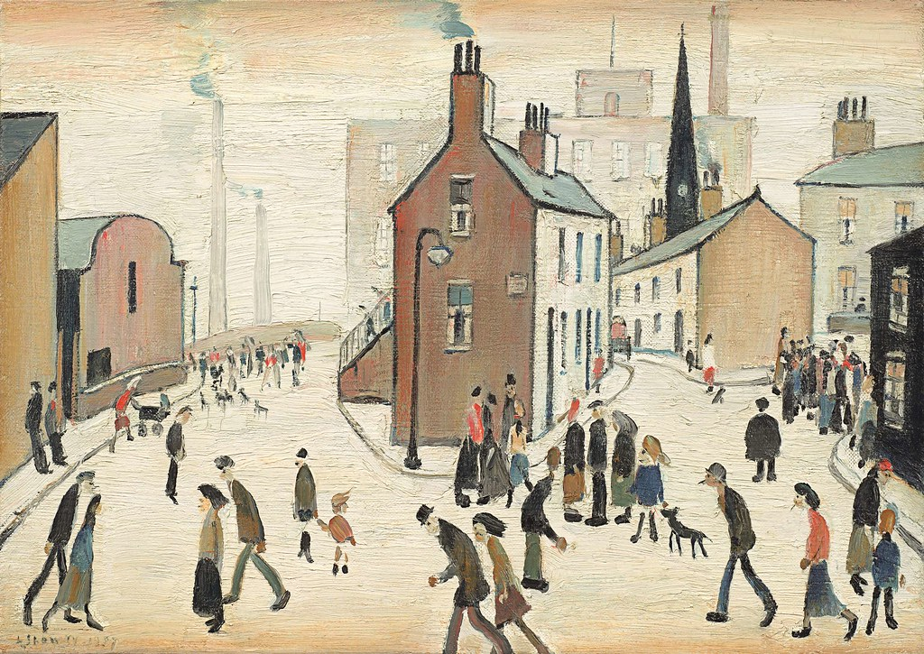 Lowry Paintings In Chalk