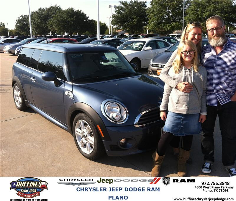 Congratulations To Brad Ross On Your Mini Cooper Clubman