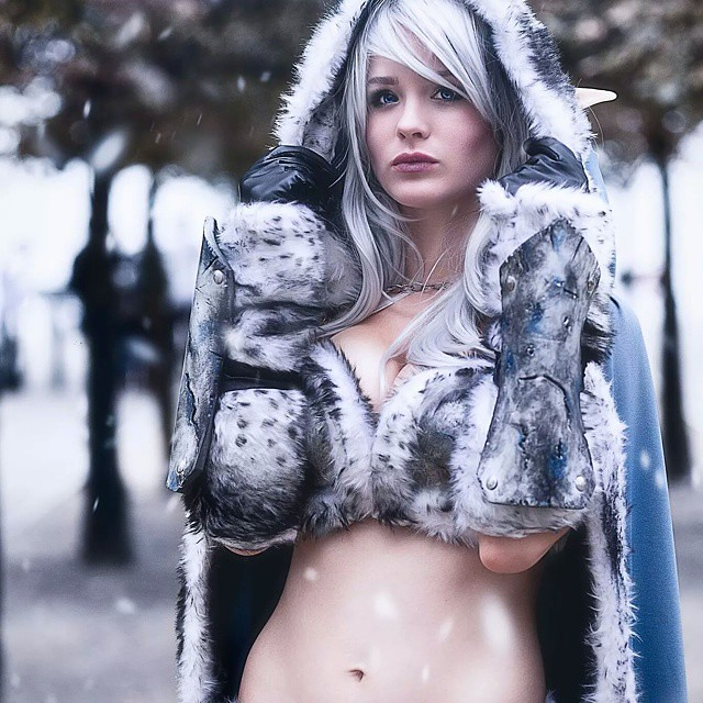 Fantasy Elf Cosplay Snow Elf Cosplay Larp