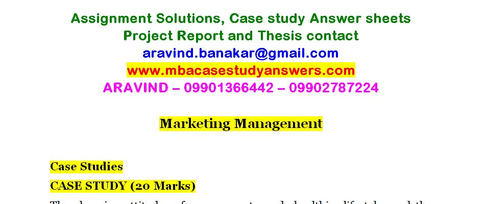 Marketing Management | Assignment Solutions, Case study Answ… | Flickr