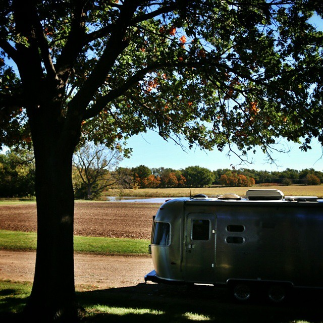 A beautiful morning at the Works Farm. #airstream