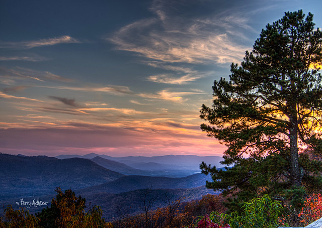 Fall Twilight Blue Ridge Mountains