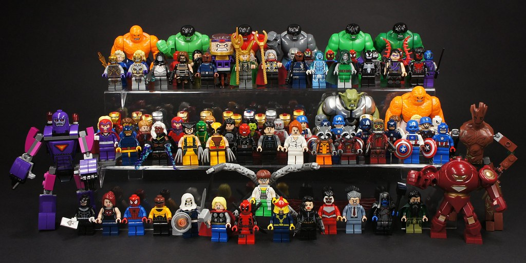 marvel lego figurines