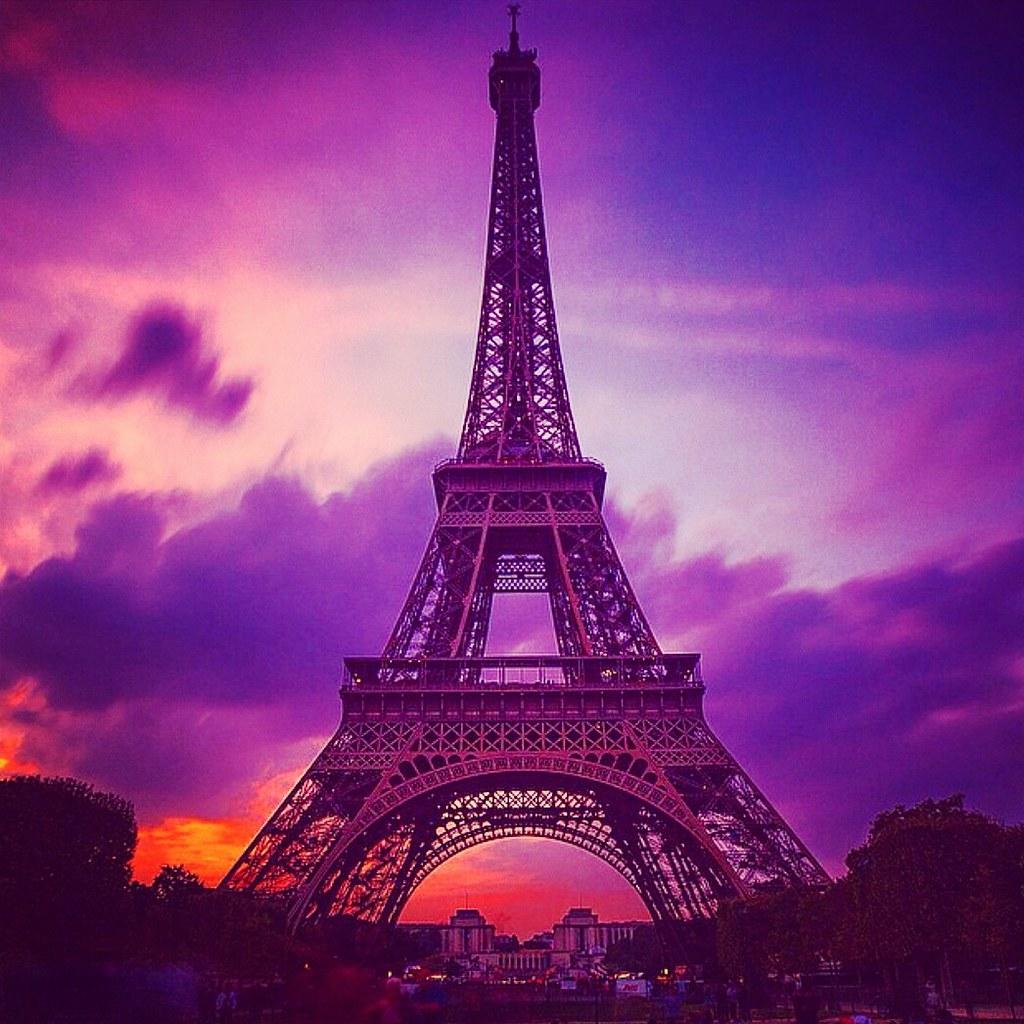 Disney Wallpaper For Bedrooms Purple Sky Over Eiffel Tower Saad Nasir Flickr
