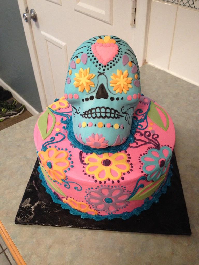 3d Sugar Skull Birthday Cake Grace Ful Cakes Flickr