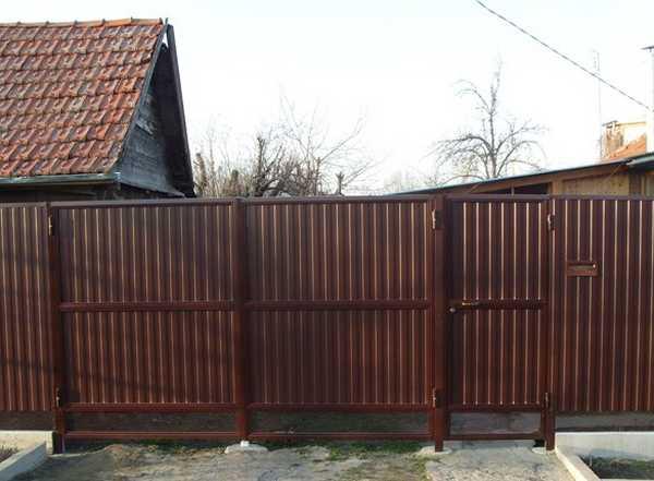 Ворота из профнастила в Перми
