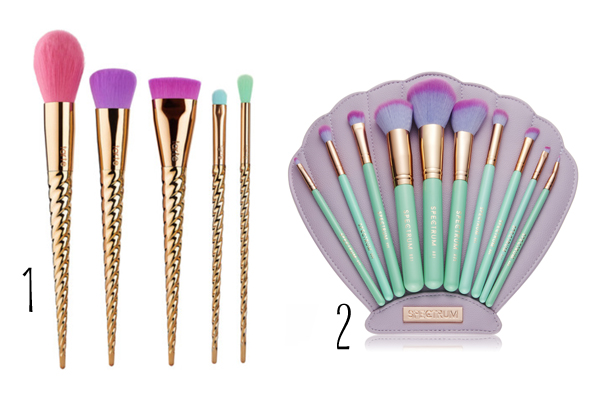 mermaid makeup brushes unicorn makeup brushes