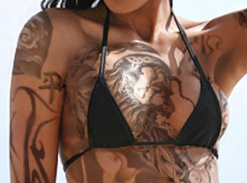 Full chest tattoos women xxx excellent porn