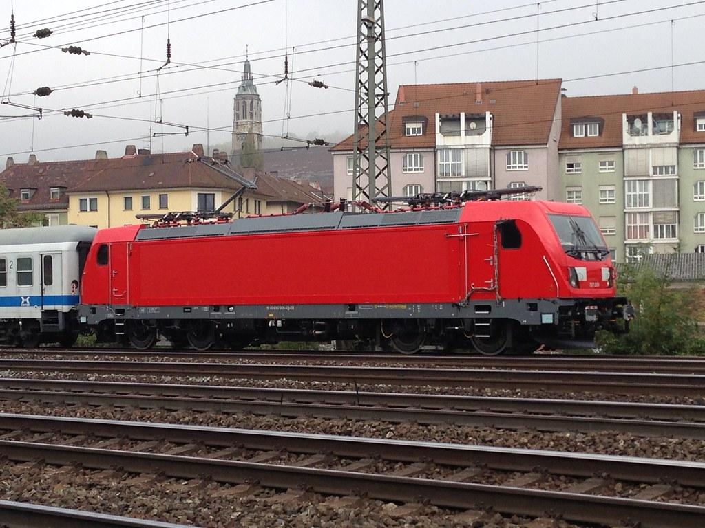 187 009-6 DB Bombardier TRAXX AC3 on test at Würzberg, Ger ...